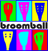 Colourful Broomball Stick Heads